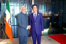Tricolour hoisted upside down at PM Modi-Abe photo-op, government sources call it an inadvertent mistake