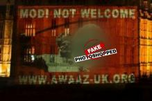Narendra Modi not welcome image on UK Parliament photoshopped