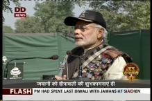 Narendra Modi celebrates Diwali with troops, visits War Memorial in Punjab