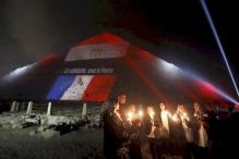 Egypt's Great Pyramid bathed in national colours of victims