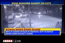 Caught on camera: Finance department officer's wife mows down a security guard in Raipur