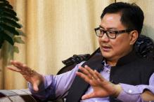 Rijiju hits out at Congress over Pillai's statement in Ishrat case