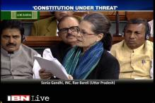 Sonia Gandhi rakes up intolerance row in Lok Sabha