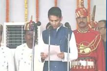 Lalu's son Tej Pratap fumbles during oath taking, forced to read again