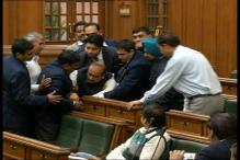 Watch: Marshals drag out BJP MLAs from Delhi Assembly during discussion on Jan Lokpal Bill