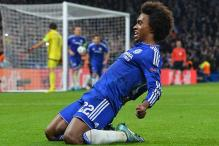 Champions League: Willian free kick gives Chelsea nervy win over Dynamo Kiev