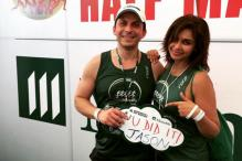 Lisa Ray participates in Cambodia marathon with her husband