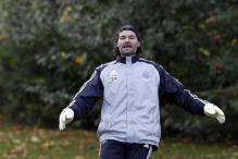 Former Newcastle goalkeeper Pavel Srnicek in induced coma