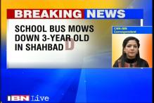 School bus mows down 3-year-old child in Delhi