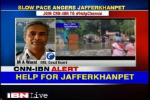 Coast Guard reaches Jafferkhanpet to provide relief material to locals