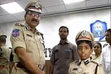 Eight-year-old boy becomes Hyderabad's police commissioner for a day