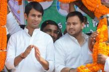 Tej Pratap Yadav rides a horse to his official bungalow