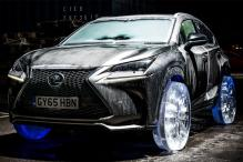 Watch: A Lexus NX that rides on wheels made of ice