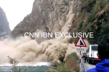 Watch: Massive landslide on Chandigarh-Manali road, no reports of any casualties so far