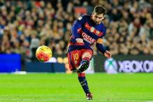 Lionel Messi scores his 500th goal as Barcelona set a record in win over Real Betis