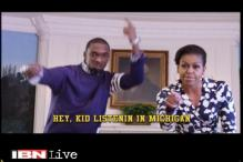 US First Lady turns rapper with comedian Jay Pharoah to promote education