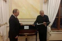 Putin gifts Mahatma Gandhi's notes, Bengal sword to Modi