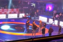 Cheerleaders, Bollywood celebs and cricketers light up opening day of Pro Wrestling League