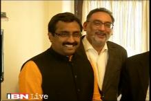 Ram Madhav meets PDP chief over government formation in J&K