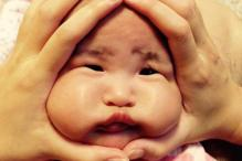 A new social media trend in Japan has people squishing their babies' faces and it is adorably hilarious
