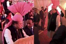 Nawaz Sharif dons pink turban gifted to him by Narendra Modi for his grand daughter's wedding