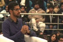 Google CEO Sundar Pichai interacts with students at Delhi's SRCC