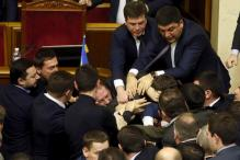 Brawl in Ukraine Parliament after MP manhandles Prime Minister Arseniy Yatsenyuk