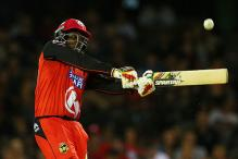 Chris Gayle equals Yuvraj Singh's T20 record with a 12-ball 50