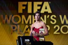 US World Cup winner Carli Lloyd gets FIFA world player award