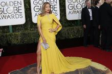 Look of the day: Jennifer Lopez epitomises sophistication as she walks Golden Globe red carpet in Giambattista Valli outfit