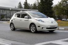 Nissan tests all-electric, driverless car at NASA facility