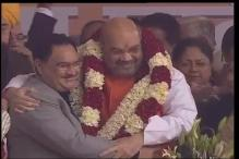 Amit Shah elected BJP chief for second time; Advani, Joshi give ceremony a miss