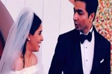 Asin looks the perfect bride in a stunning Vera Wang gown