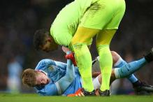 Manchester City's Kevin de Bruyne suffers suspected knee ligament injury
