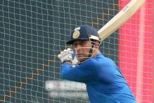 MS Dhoni Practices Hard Ahead of Karnataka Clash