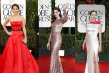 Fashion rewind: Angelina Jolie, Anne Hathaway and other stars who stood out for their red-carpet appearances at Golden Globe Awards