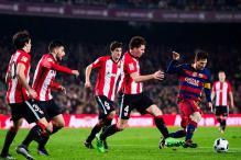 Barcelona sink Bilbao to reach Copa del Rey semis, Atletico Madrid crash out
