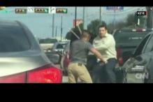 Watch: Road rage in US, two men assault each other with baseball bat, stick