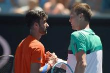 Yuki Bhambri loses to Tomas Berdych in round one at Australian Open