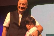 Anupam Kher celebrates Padma Bhushan with specially-abled kids