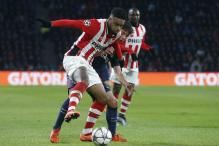 Champions League: 10-man Eindhoven hold Atletico Madrid to a goalless draw