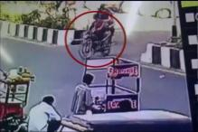 Caught on camera: SUV runs over bike rider in Surat
