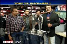 ICC World Twenty20 trophies visit CNN-IBN newsroom