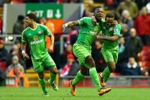 EPL: Defoe's late strike helps valiant Sunderland hold Liverpool 2-2