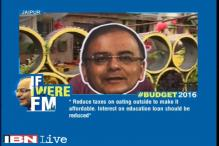 If I were FM: Reduce interest on education loan, say people in Jaipur