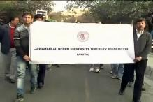 JNU remains on the boil, teachers' association joins strike seeking probe into sedition case