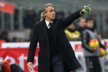 Milan Derby defeat hurts Mancini; slams officials, argues with TV presenter