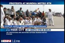 Jat stir enters Delhi, agitators gather at Mundka Metro station