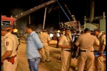 Massive fire breaks out at 'Make in India' stage in Mumbai