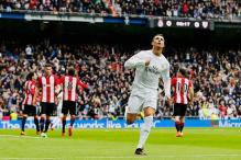 Cristiano Ronaldo scores twice as Real Madrid beat Athletic Bilbao 4-2